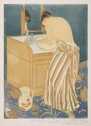 """Woman Bathing"" by Mary Cassatt, Metropolitan Museum of Art."