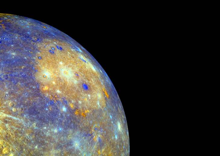Mercury's Caloris Basin.  NASA