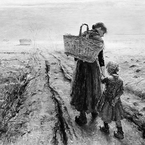 """""""Going Home"""" by Fritz Von Uhde"""