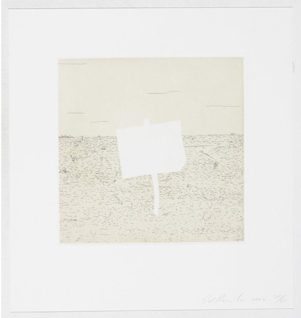 Edward Ruscha, Blank Signs #3