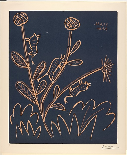 """Plant with Little Bulls"" by Pablo Picasso"