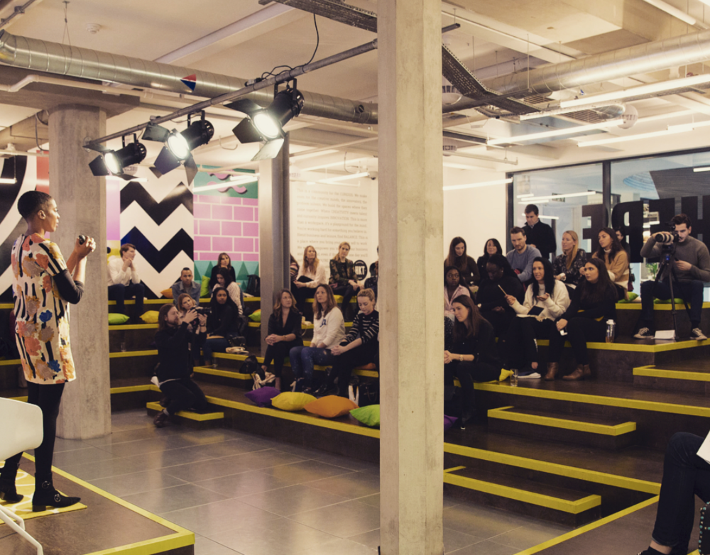 Talking about the rise of Fluid Living & Portfolio Careers in workshops for Pepisco -
