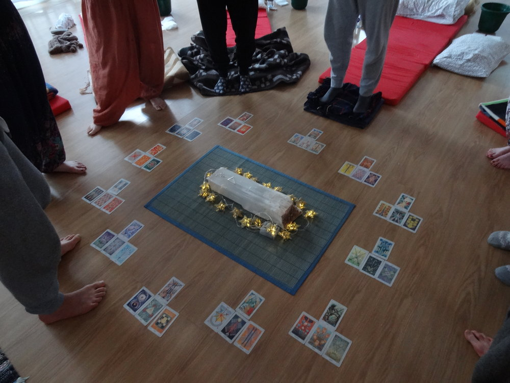 A tarot session at a previous retreat