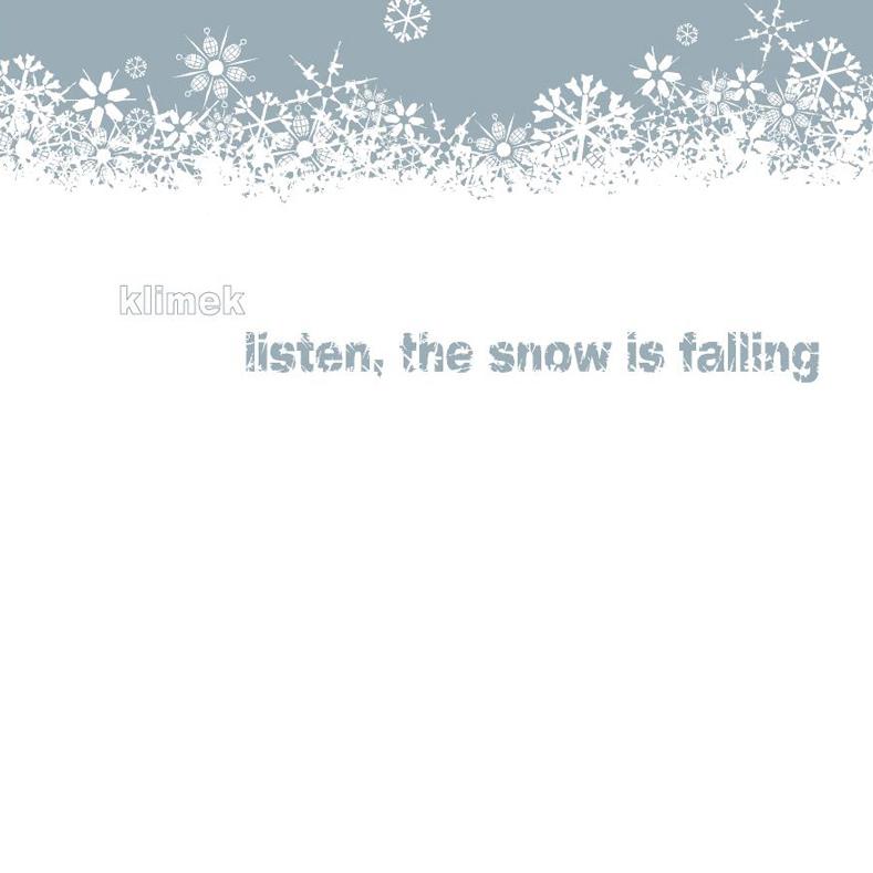 Klimek – Listen, The Snow Is Falling  Vinyl  Kompakt, 2005