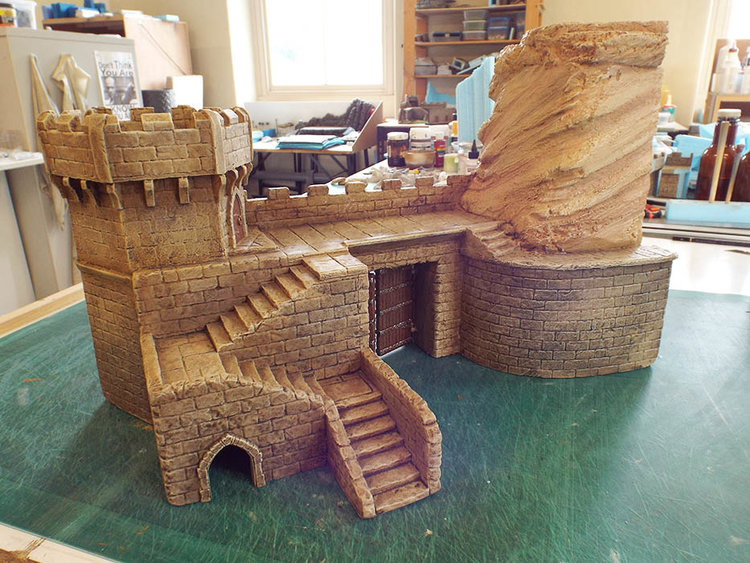 City Gate - 28mm Styrofoam building for table edge.