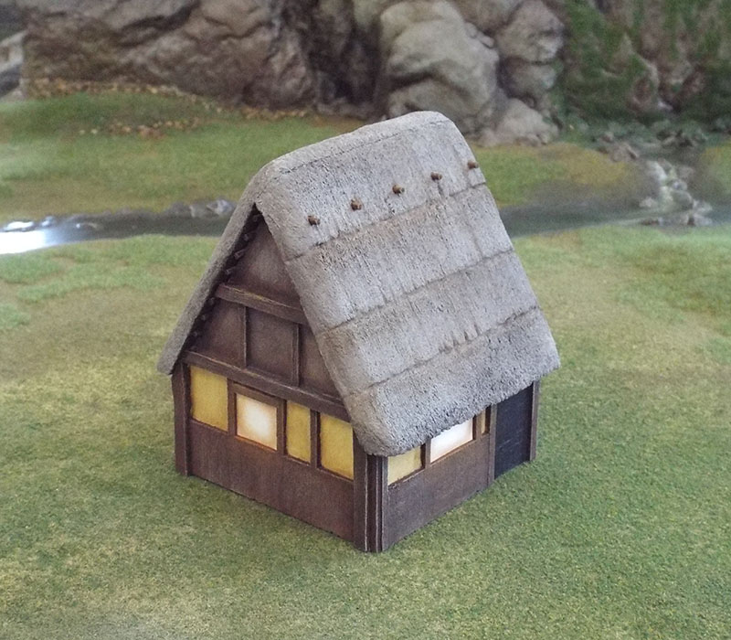 An experiment to make thatch from foam.