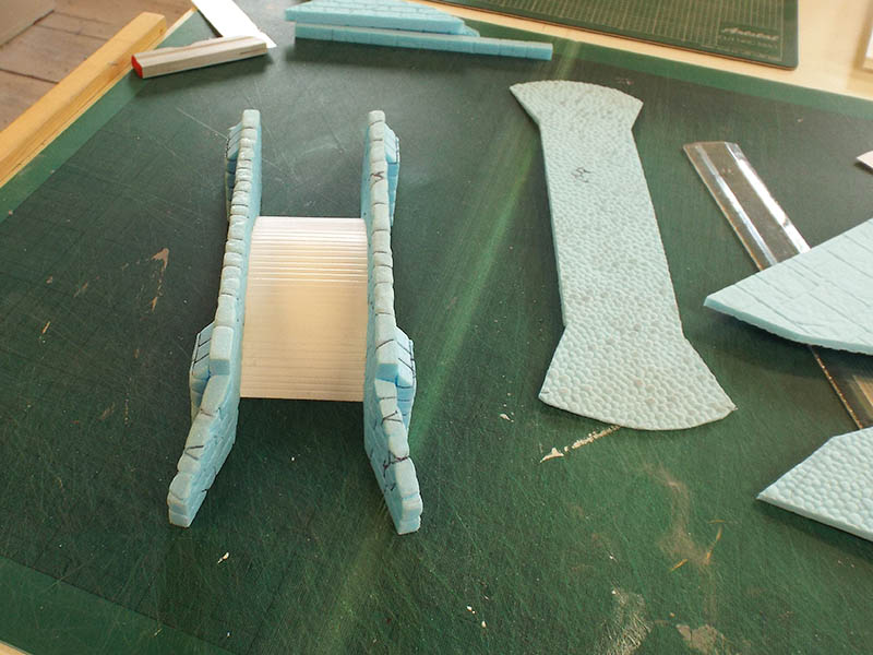 1mm foam PVC used to support the cobbles.