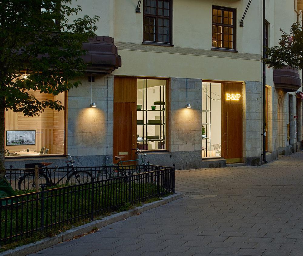 Convex - Fixture: Convex wall, outdoor.Project: Behrer & Partners in Stockholm.Architect: Vida Arkitekter.