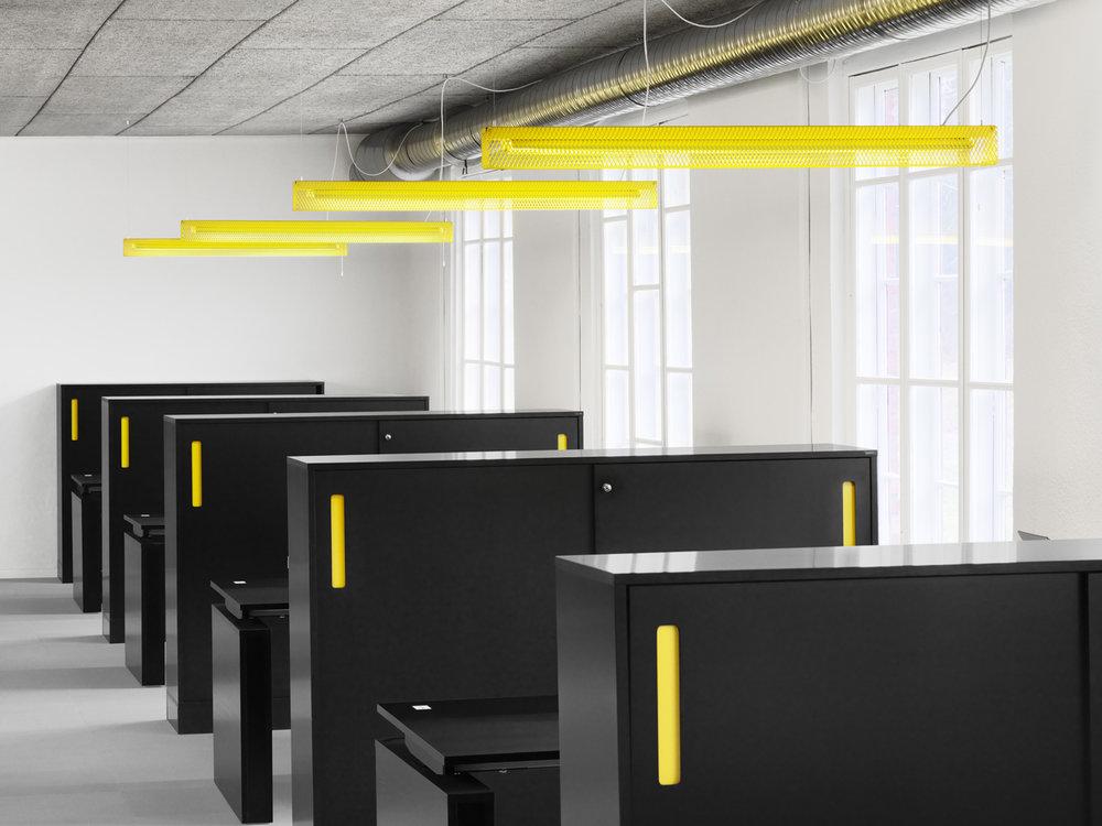 Grid - Fixture: Grid pendant.Project: Zero head office.