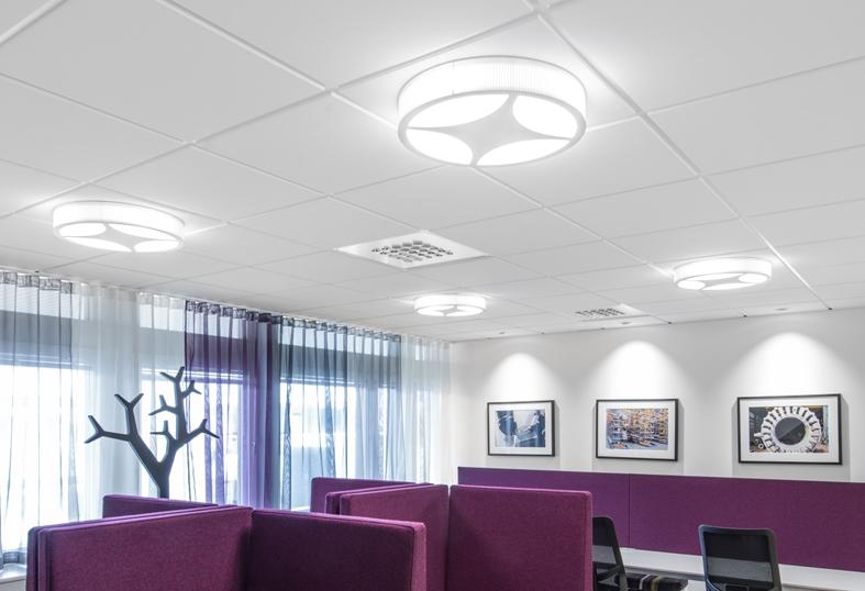 Mimmi - Fixture: Mimmi ceiling.Project: Sandviks office/World Trade Center in Stockholm.Lightplanner: Nora Högberg, ECO,Interior designer: IK-arkitekter,Architect: Lomar Arkitekter,