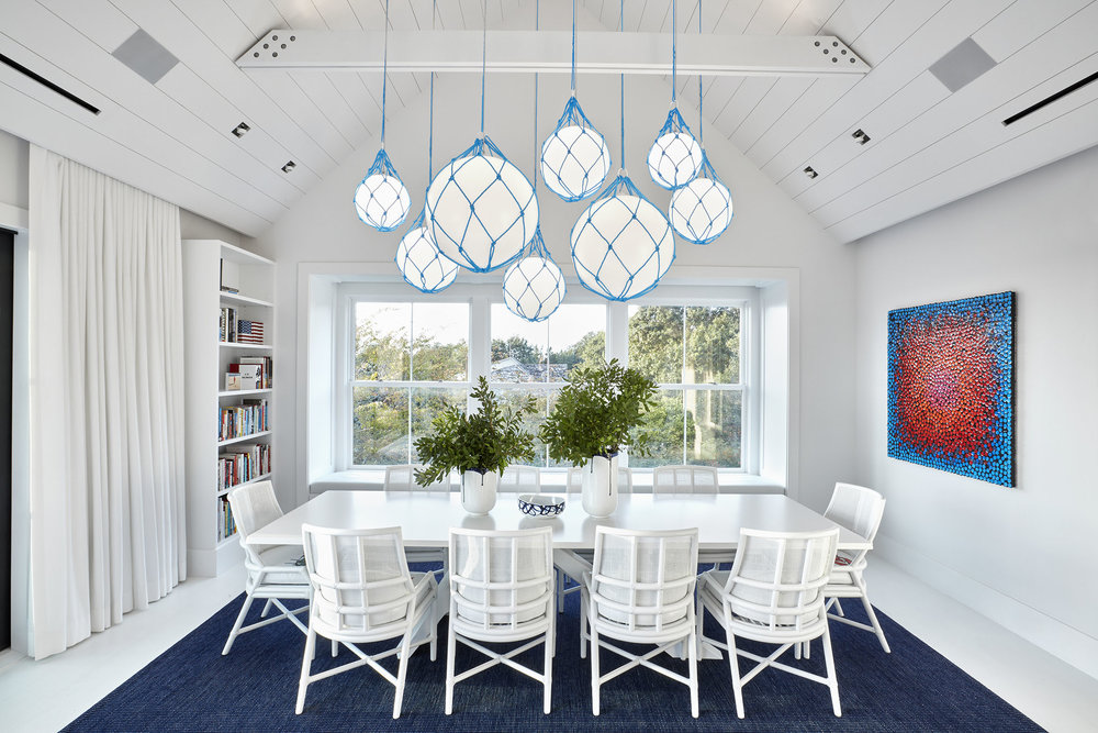 Fisherman - Fixture: Fisherman with custom blue netProject: Montauk Beach House, USAInterior designer: Ghislaine Vinas
