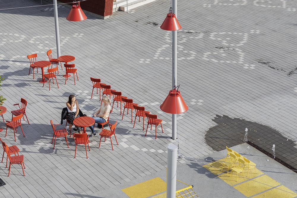 City - Project: City square in Bollnäs, Sweden.Landscape architect: KaravanLight design: BjerkingArchitect: Marge Architects