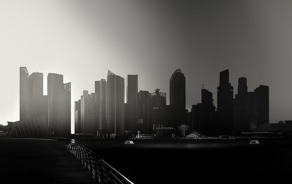 SKYLINE OF SINGAPORE - Lights, Study II, 2016, Singapore