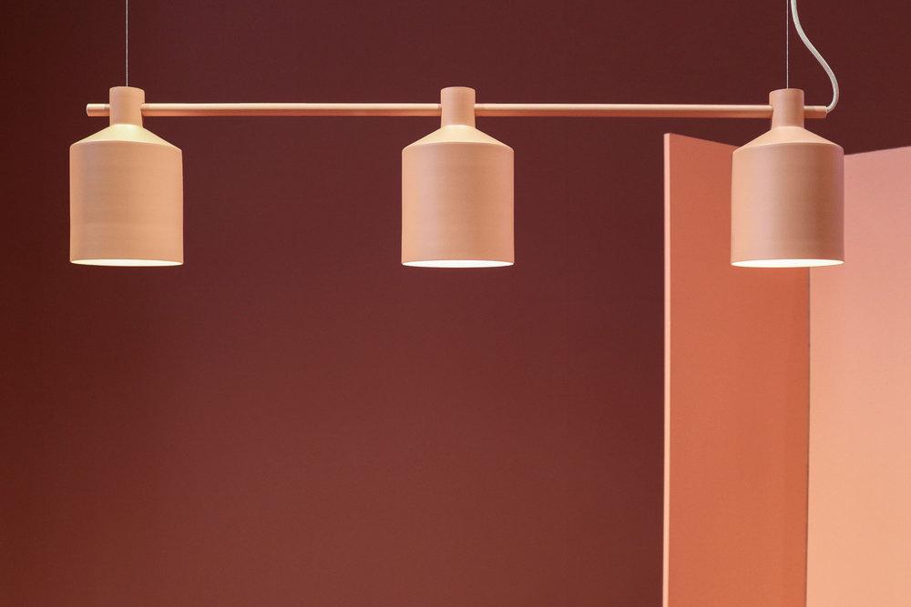 Silo Trio - Produkt: Silo Trio, aprikos.Projekt: Designbaren 2017.Arkitekt: Note Design Studio