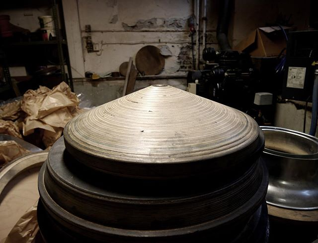 One of our lampshade molds for metalspinning.