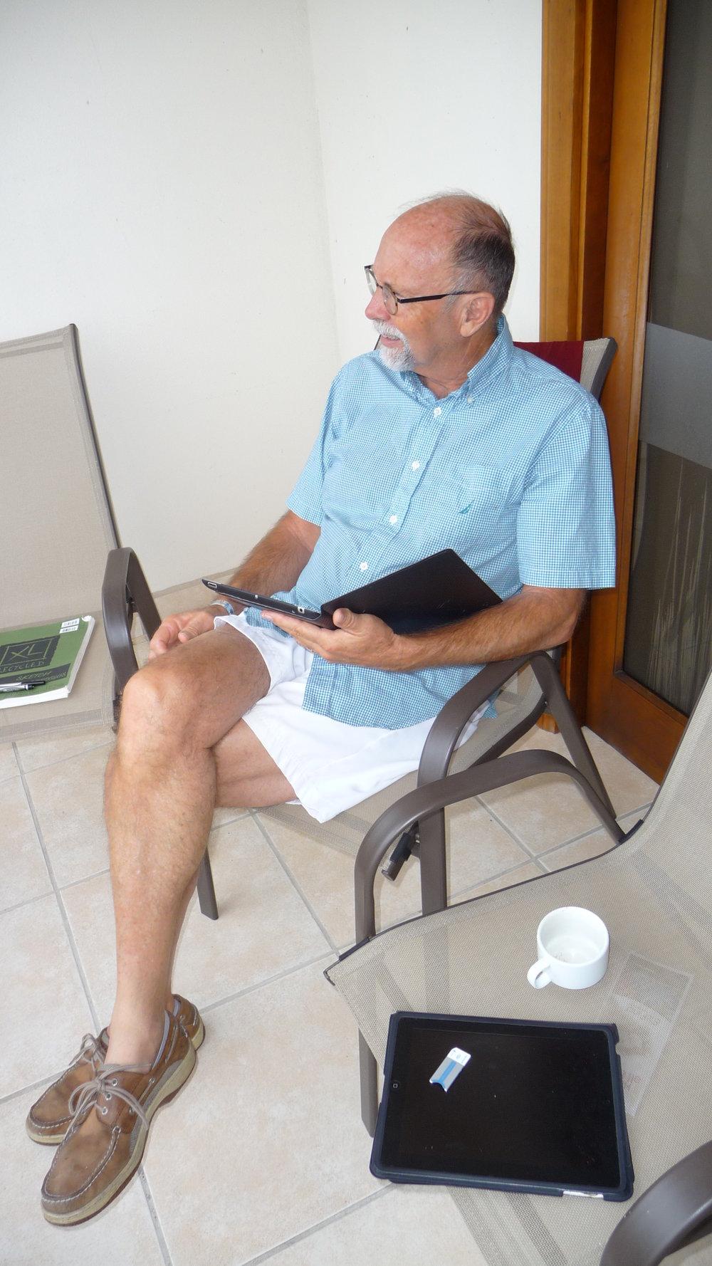 Mike Major sketching in Guanacaste Region, Costa Rica