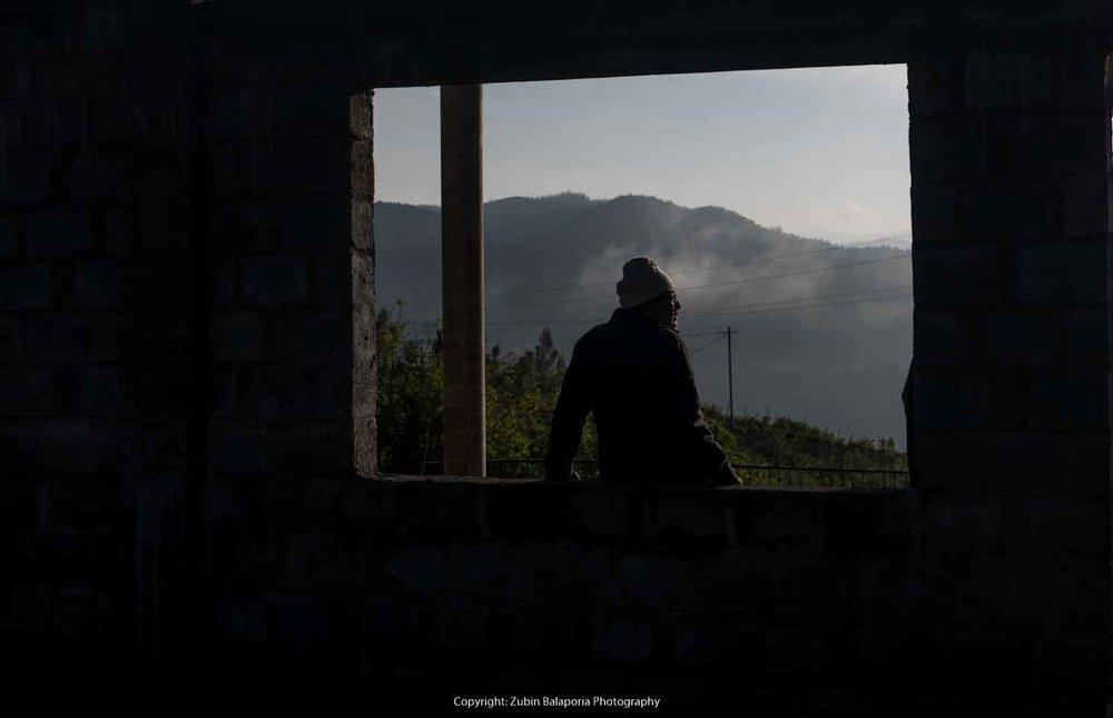 Man and Girder Silhouette Framed 02