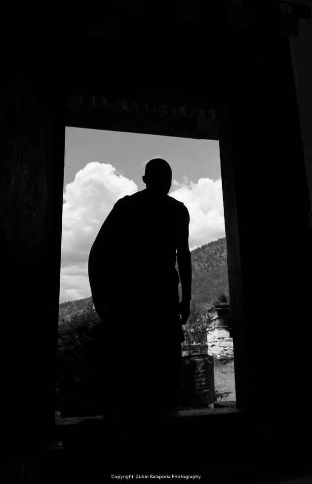 BHU Monks Doorway 06 BW.jpg