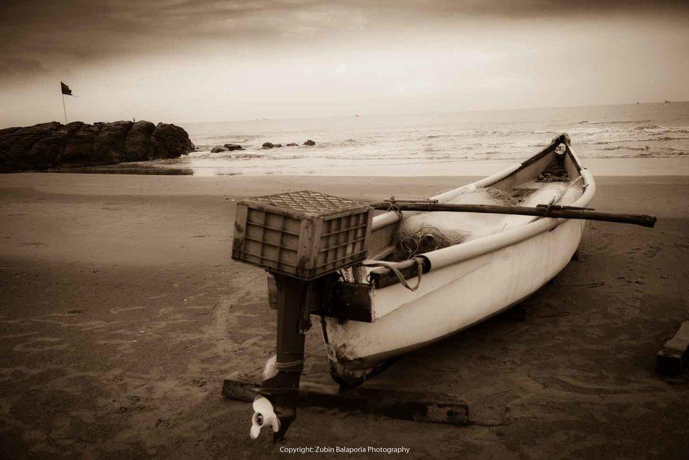 Boat on Morjim Beach (Goa) - 1