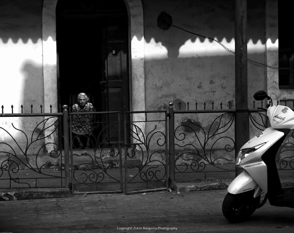 Goa Panjim Old Lady BW.jpg