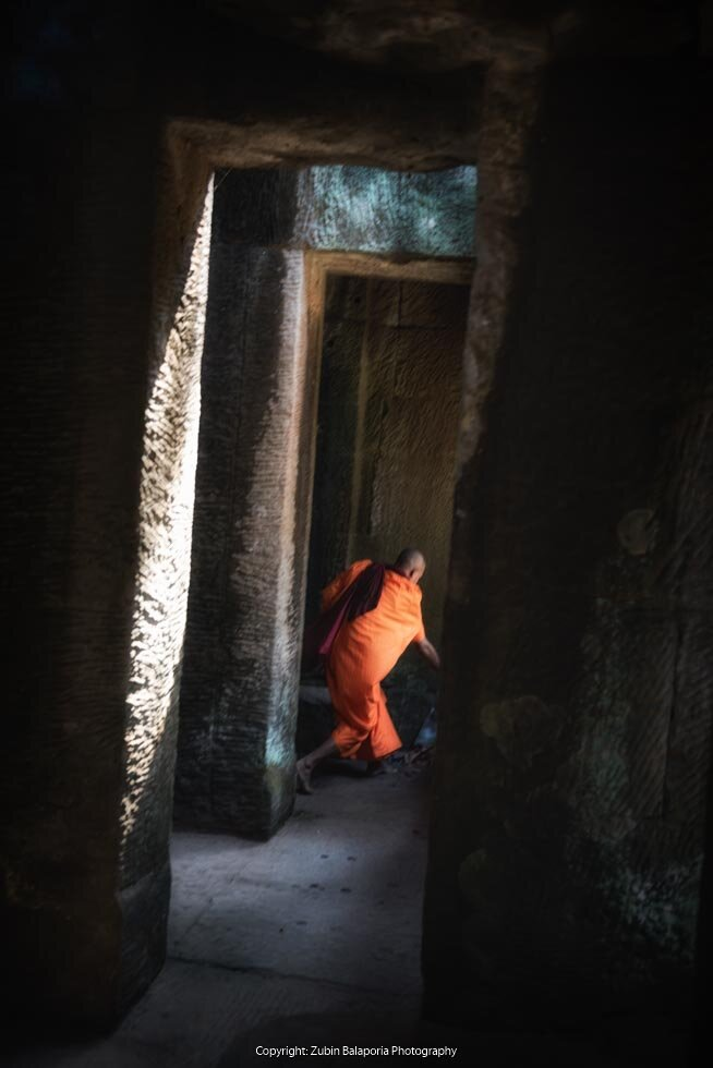 The Scurrying Monk of Angkor Wat