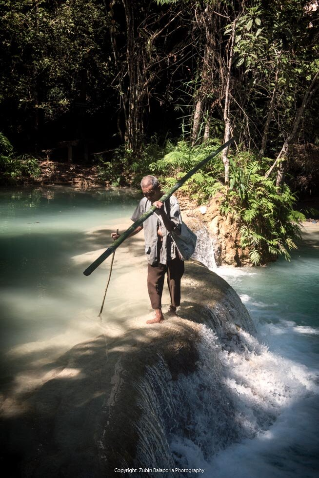 Luang Prabang - The Old Man and the Crossing