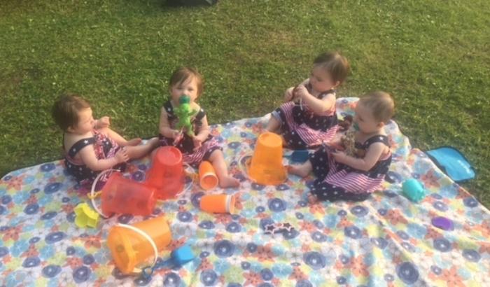 Happy 1st Birthday, to Anna, Morgan, Carolyn and Olivia!