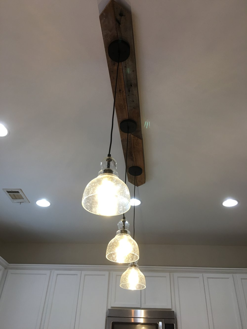 Can I Make A Three Pendant Light Fixture With Only One Electrical Wiring 2 Bulb We Used Tweezers To Reconnect The Black Wiretried Againand This Is What It Looked Like