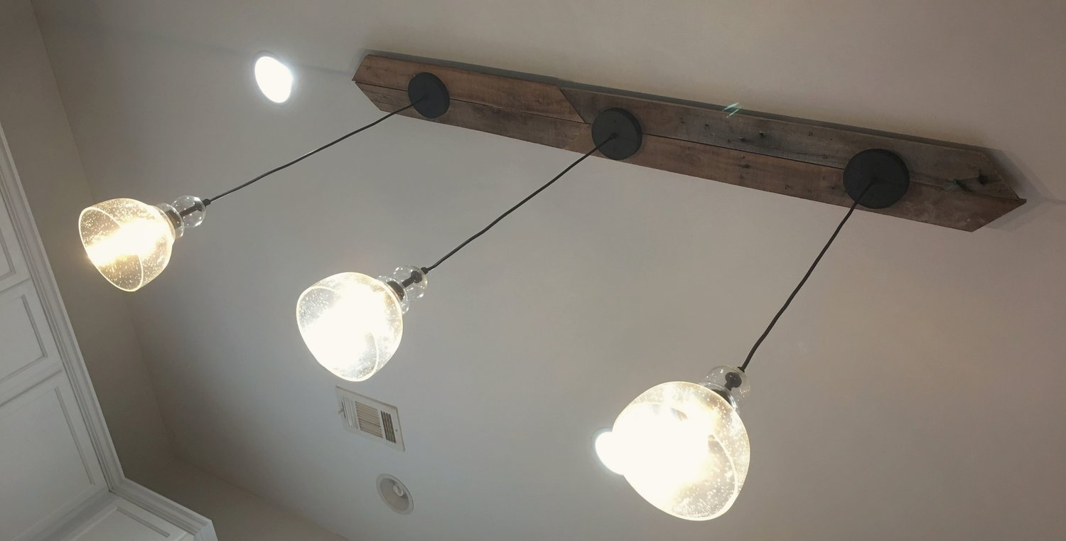 Can i make a three pendant light fixture with only one electrical connection
