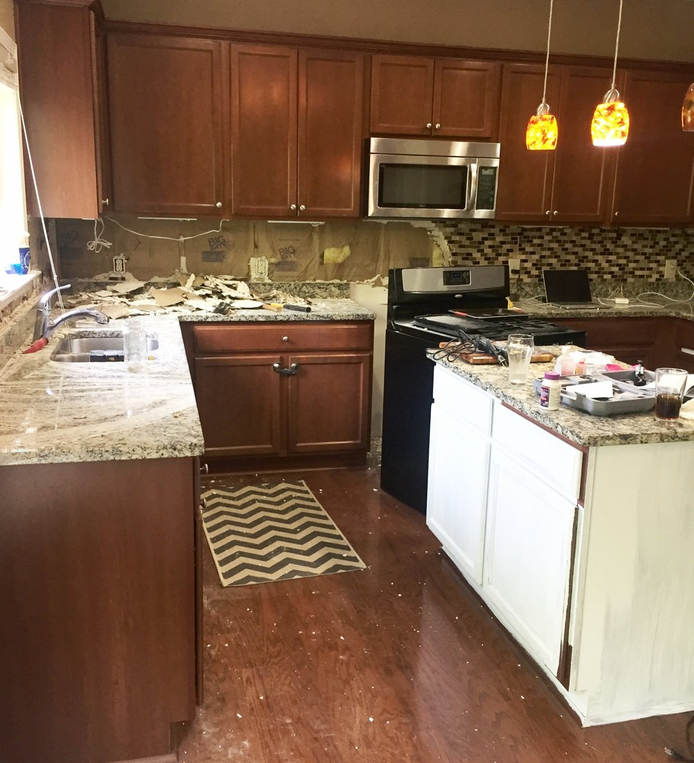 Can I Remove The Backsplash From Hell All On My Own Including