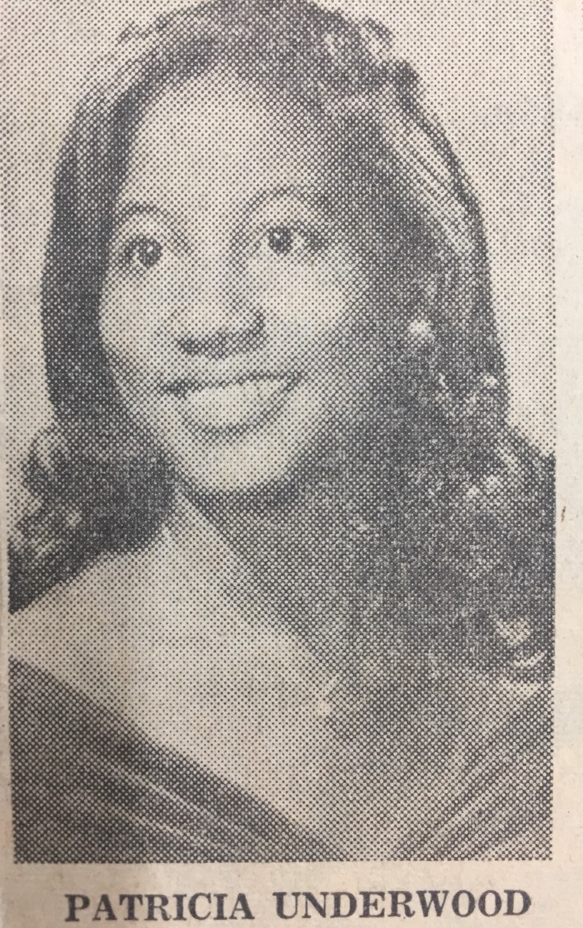 A headshot of Patricia Underwood Williams appears in a Chattanooga Times article from January 1, 1972, about Chattanooga women who made the news the previous year. (Chattanooga Public Library archives)