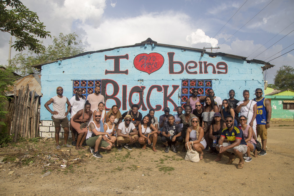 The Black Arrow group as we visited San Basilio de Palenque, Colombia.