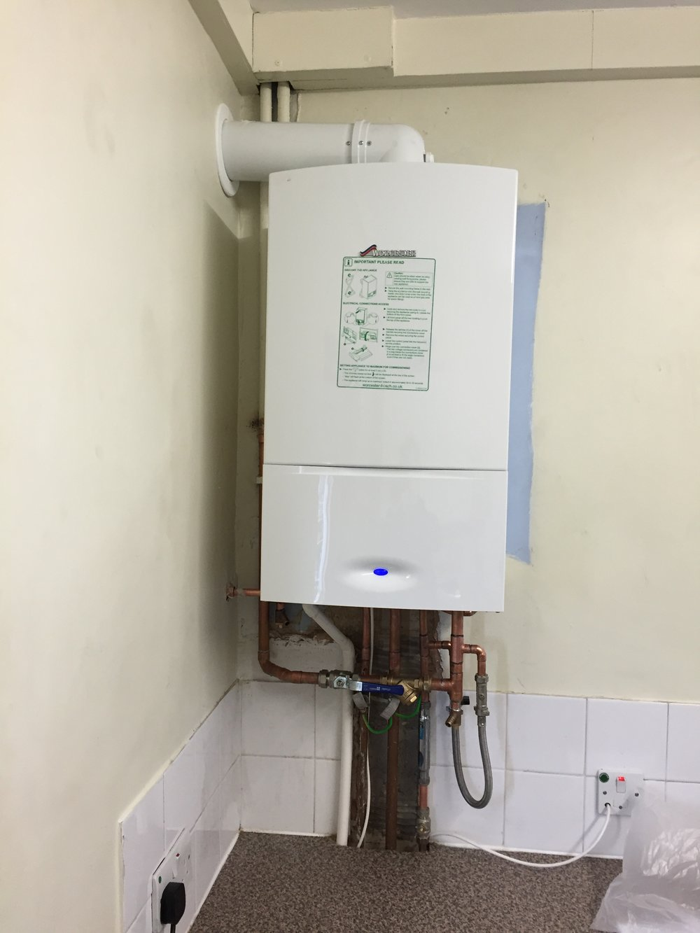 Worcestor boiler to replace faulty existing boiler (2).JPG