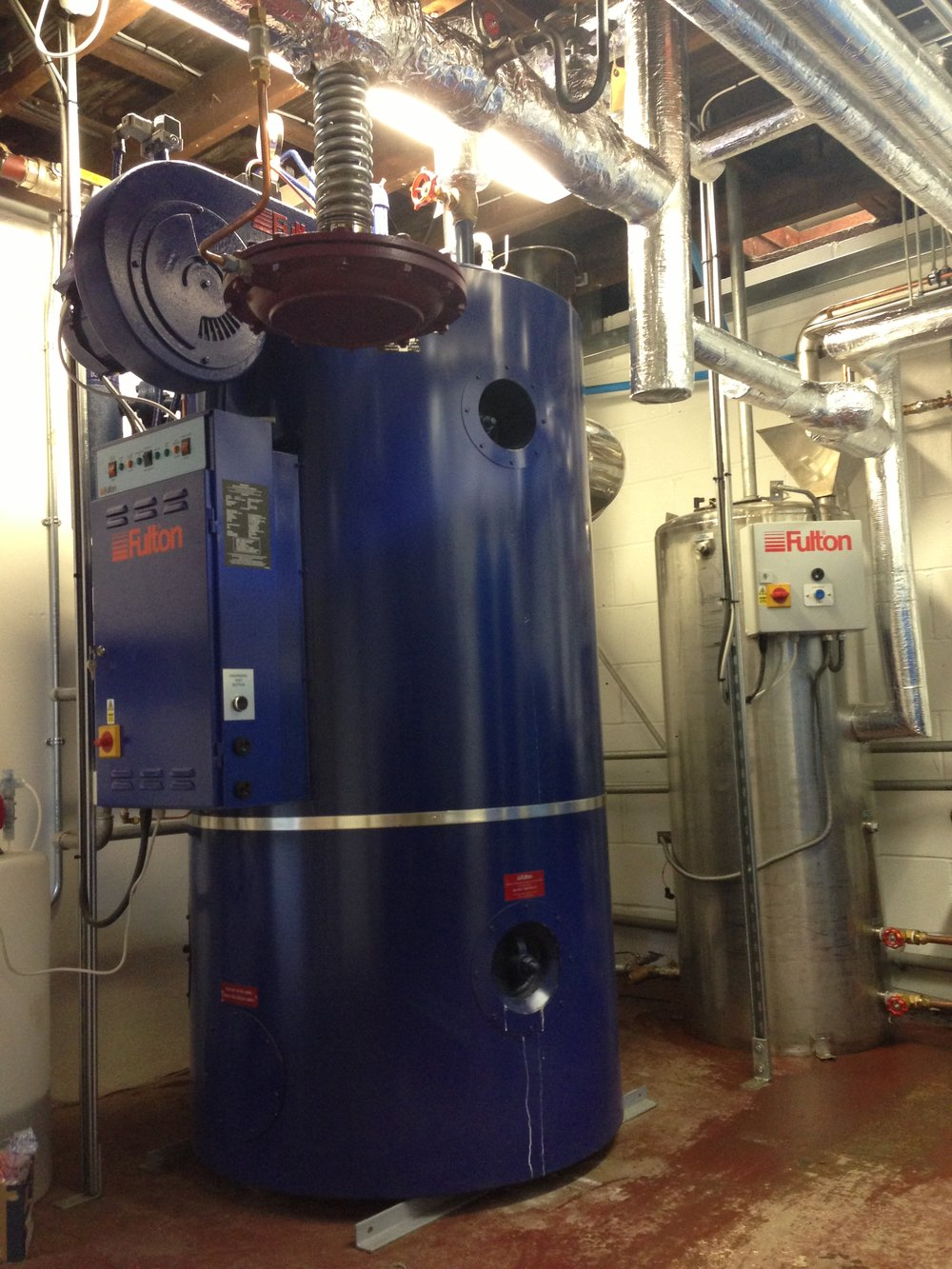 Gas fired steam boiler for new Gin distillary (2).JPG