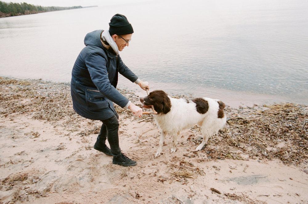 PNW-Based Commercial Family Adventure Tourism Photographer With Newfoundland Dog
