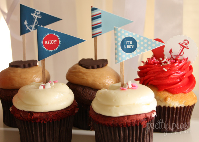 DIY Nautical Cupcake Toppers