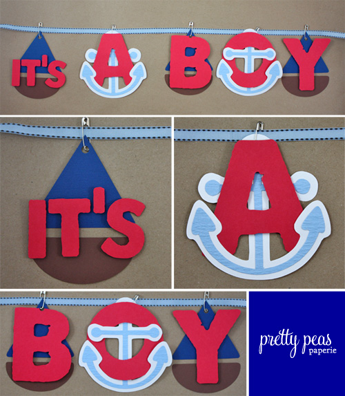 DIY nautical baby shower decor | it's a boy sign
