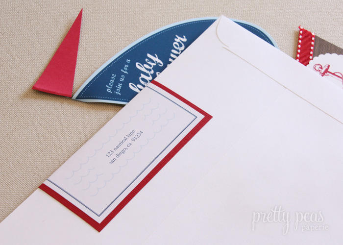 DIY Nautical Wrap Around Address Labels