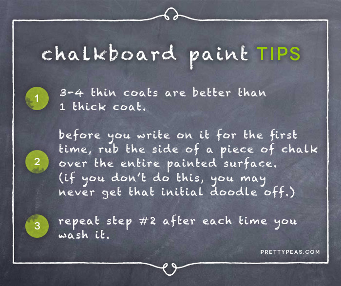 tips for using chalkboard paint