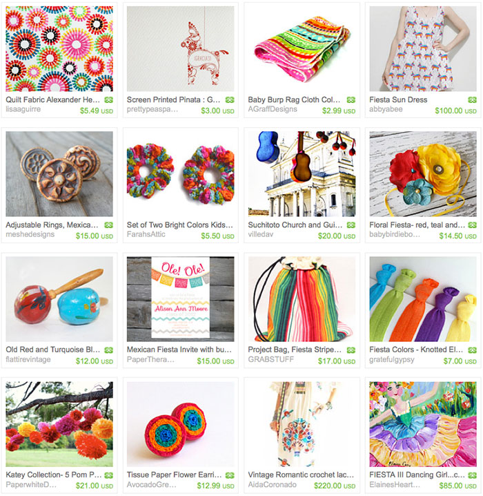 Summer Fiesta Inspiration // Fiesta Fun Etsy Treasury