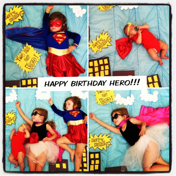 Superhero Birthday // still action photo set-up for kids