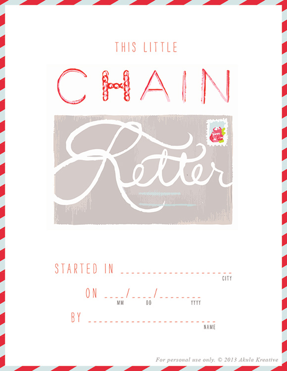 Printable Chain Letter Project // a fun way to keep in touch
