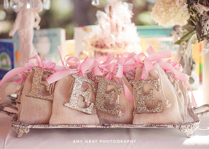 "Burlap Bags with Glitter Letter ""Fearfully and Wonderfully Made [from scratch]"" Baby Shower"