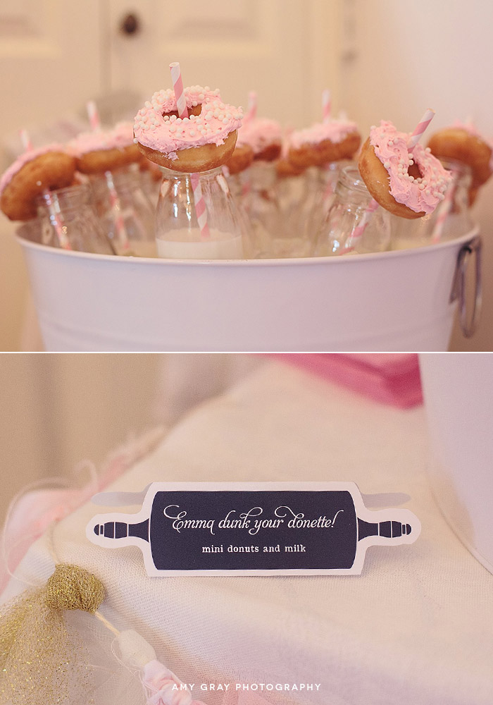 "Mini Donuts and Milk | ""Fearfully and Wonderfully Made [from scratch]"" Baby Shower"