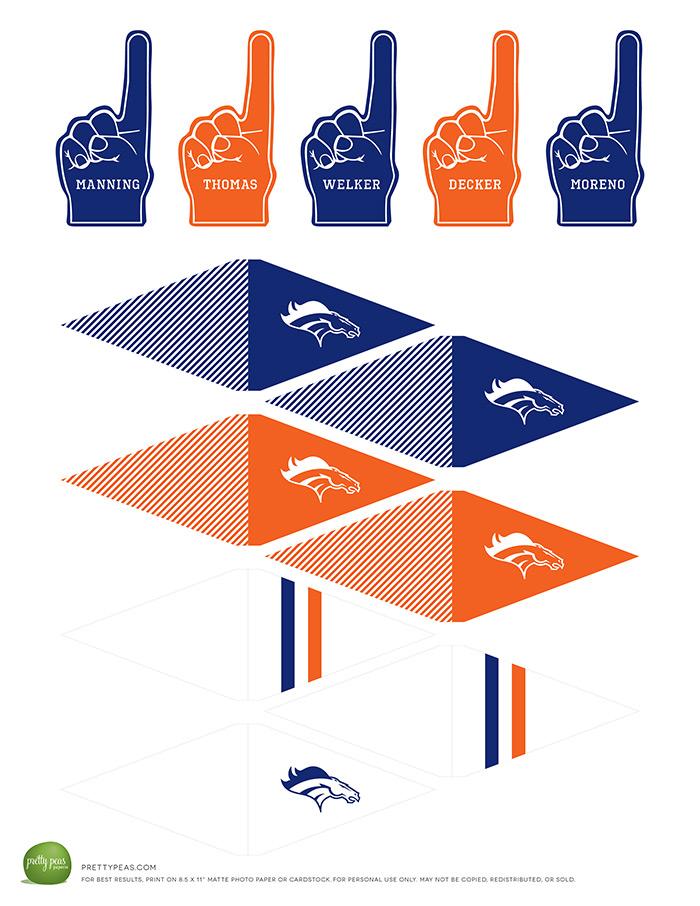 Free Printable | Denver Broncos Cupcake Toppers | PrettyPeas.com