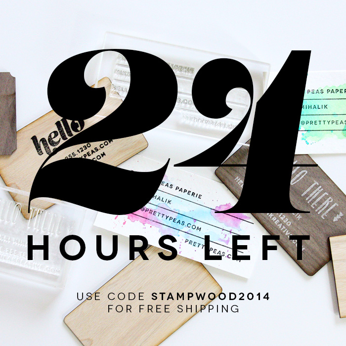 24 hours left | Use code STAMPWOOD2014 for free shipping!