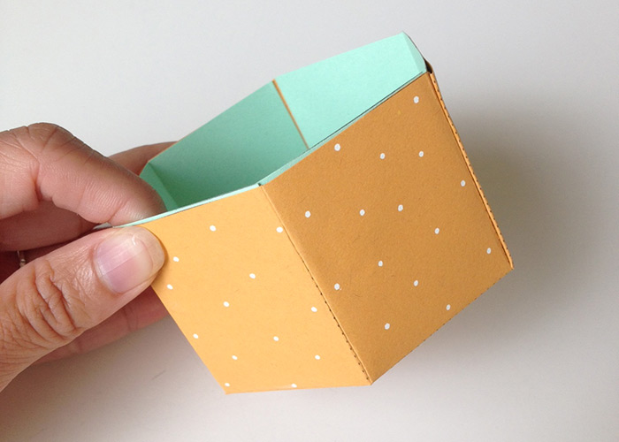 DIY Hexagonal Box Paper Sculpture | Tutorial