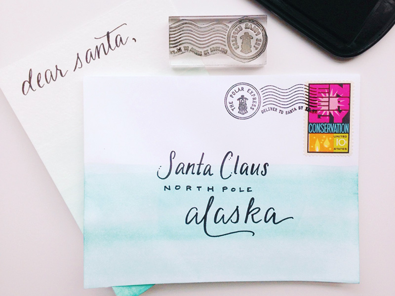 "Polar Express Letters to Santa Rubber Stamp | ""Please deliver to Santa by December 25"""