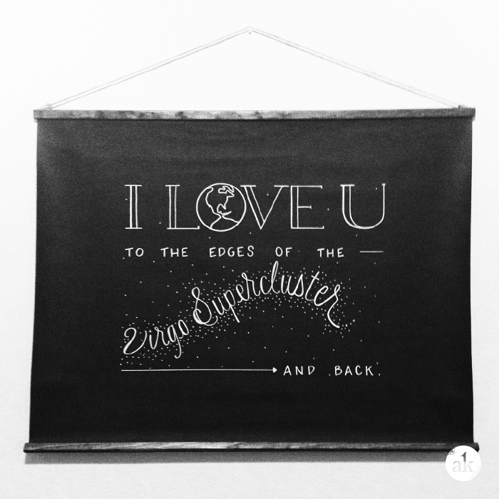 I love you to the [edges of the Virgo Supercluster] and back."