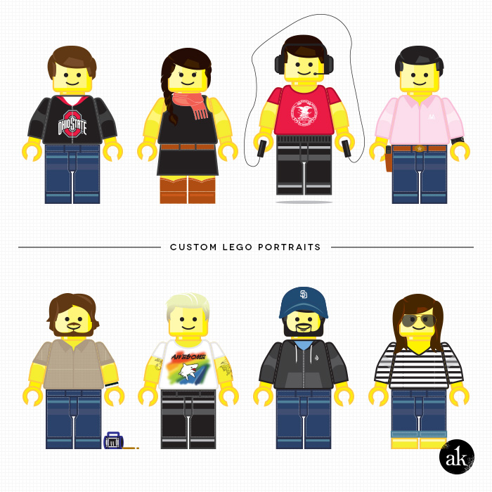 Custom Lego Portraits by Akula Kreative (Nikki Mihalik)